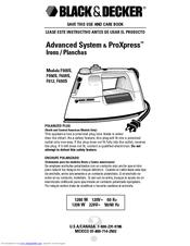 Black & Decker F605S Manuals