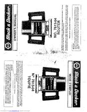 Black & Decker 7613-04 Manuals