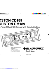 Blaupunkt HOUSTON DM189 Manuals