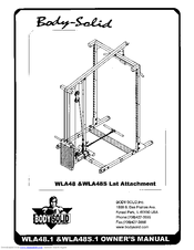 Body Solid LAT-ATTACHMENT WLA48 Manuals