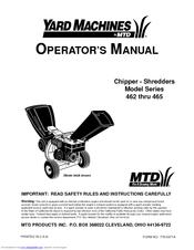 Yard Machines 463C Manuals