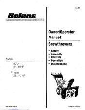 Bolens 824A Manuals