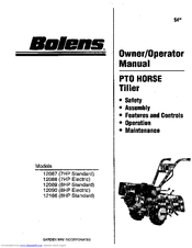 Bolens 12090-8HP Manuals
