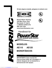Bosch PowerStar AE115 Manuals