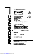 Bosch PowerStar AE125 Manuals