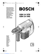 Bosch GBH 24 VRE Manuals