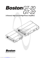 Boston Acoustics GT-22 Manuals