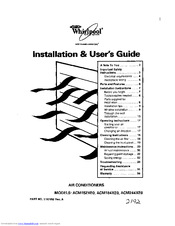 Whirlpool ACM184XE0 Manuals