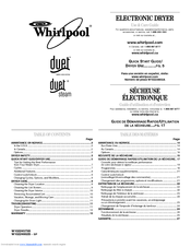 Whirlpool DUET W10224575B Manuals
