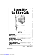 Whirlpool Dehumidifier Manuals
