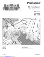 Panasonic SC-AK22 Manuals