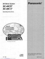 Panasonic SA-AK17 Manuals