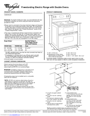 Whirlpool Gold GGE350LW Manuals