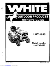 White Outdoor 138-786-190 Manuals