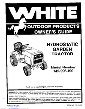 White Outdoor 142-996-190 Manuals