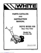 White Outdoor 215-403-190 Manuals