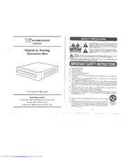 Winegard Digital to Analog Converter Box RCDT09A Manuals