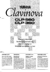 Yamaha Clavinova CLP-560 Manuals
