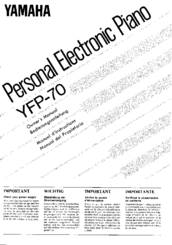Yamaha YFP-70 Manuals