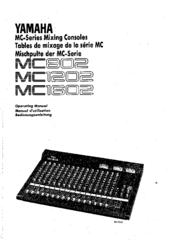 Yamaha MC802 Manuals