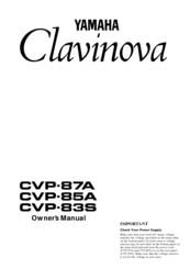 Yamaha Clavinova CVP-85A Manuals