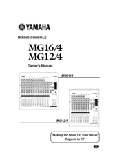 Yamaha MG16/4 Manuals
