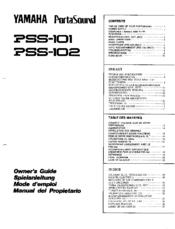 Yamaha PortaSound PSS-102 Manuals
