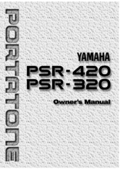 Yamaha PSR-420 Manuals