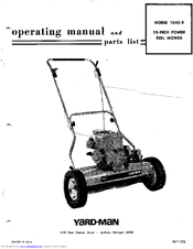 Yard-man 1040-9 Manuals