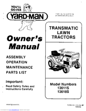 Yard-man 13611S Manuals