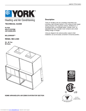 York MILLENNIUM ND360 Manuals