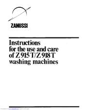 Zanussi Z915T Manuals