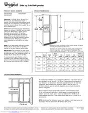 Whirlpool GSC25C6EYB Manuals