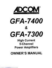 Adcom GFA-7400 Manuals