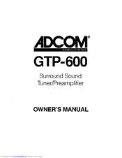 Adcom GTP-600 Manuals