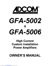 Adcom GFA-5006 Manuals