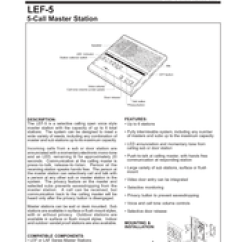 Aiphone Lef 3 Wiring Diagram 6 Wire Outlet 5 Great Installation Of Manuals Rh Manualslib Com