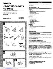 Aiwa HS-JX759 Manuals