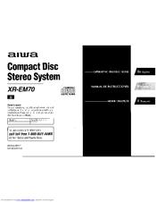 Aiwa XR-EM70 Manuals