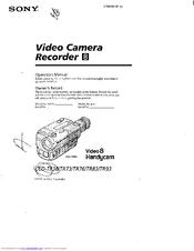 Sony Handycam CCD-TR93 Manuals