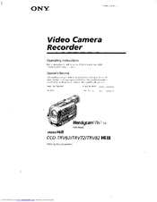 Sony Handycam Vision CCD-TRV72 Manuals