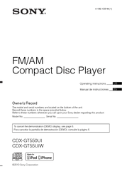 sony cdx gt55uiw wiring diagram l298 h bridge circuit gt550ui great installation of fm am compact disc player manuals rh manualslib com gt570up