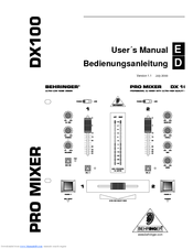 Behringer PRO MIXER DX1000 Manuals