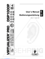 BEHRINGER DSP1000P MANUAL PDF