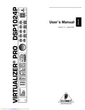 Behringer Virtualizer Pro DSP1024P Manuals