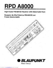 Blaupunkt RPD A8000 Manuals