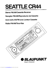 Blaupunkt Seattle CR44 Manuals