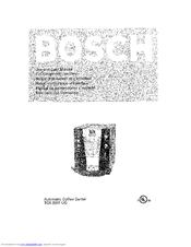 Bosch AUTOMATIC COFFEE CENTRE TCA 6301 UC Manuals