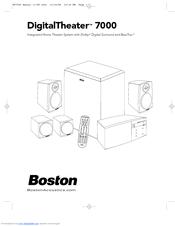 Boston Acoustics DigitalTheater 7000 Manuals