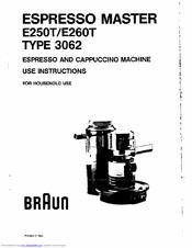 Braun Espresso Master E250T Manuals